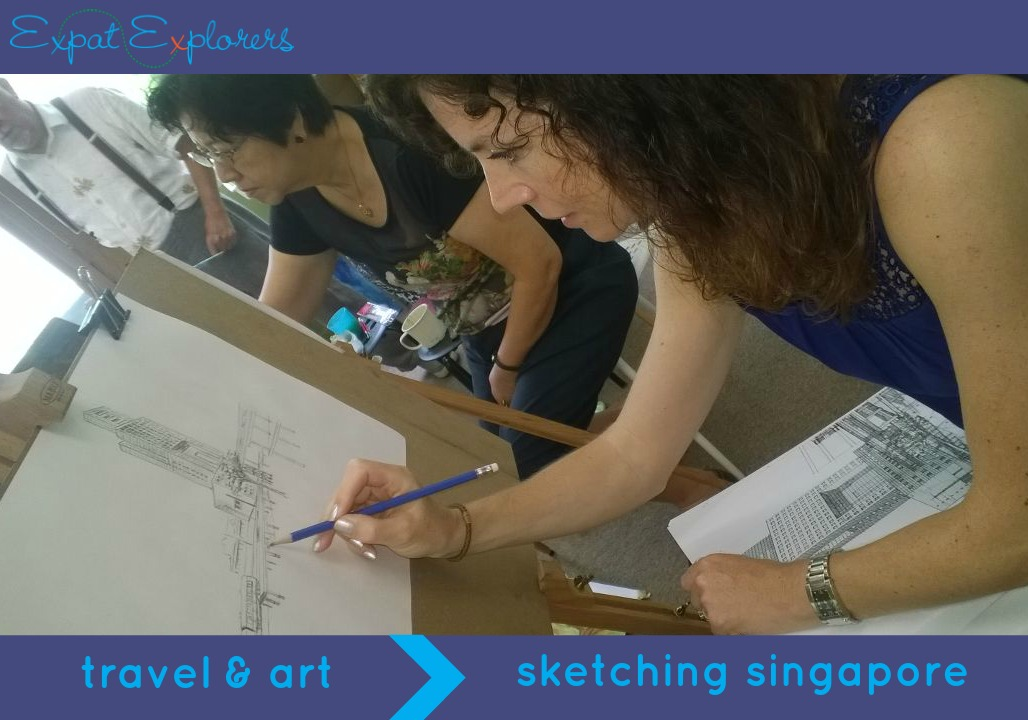 Sketching Singapore: travel & art